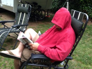 Reading has become difficult for Rich due to short-term memory issues related to his FTD.